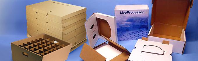 продажа готовых коробок из белого картона